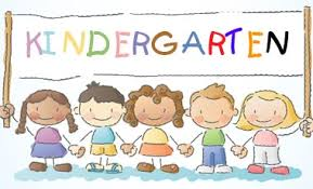 kids holding kindergarten photosign