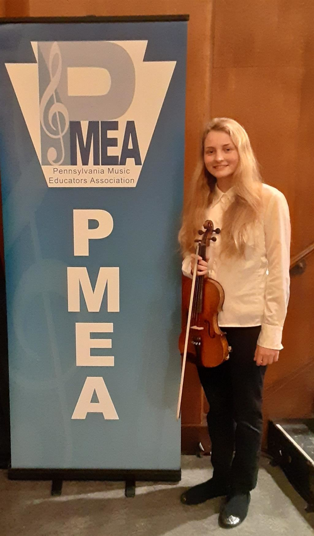 Junior Eden Dolanc qualified for the PMEA All-State Festival Orchestr
